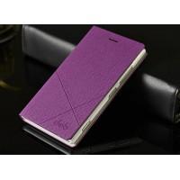 Текстурный чехол флип серия CrossLines для Nokia Lumia 925 Фиолетовый