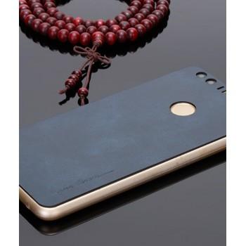 Экстратонкая клеевая кожаная накладка для Huawei Honor 8