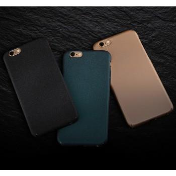 Пластиковый непрозрачный матовый чехол с повышенной шероховатостью для Iphone 6 Plus