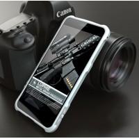 Металлический округлый премиум бампер на винтах для Huawei Honor 8 Белый
