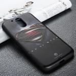 Силиконовый матовый непрозрачный чехол с объемно-рельефным принтом для Lenovo Moto G4