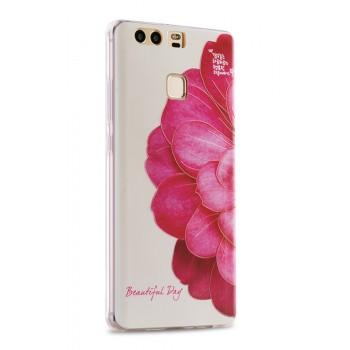 Силиконовый матовый непрозрачный чехол с принтом для Huawei P9