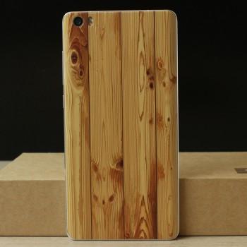 Пластиковый непрозрачный матовый чехол с текстурным покрытием Дерево для Xiaomi Mi Note