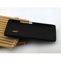 Пластиковый матовый непрозрачный чехол металлик для Lenovo Moto X Play Черный