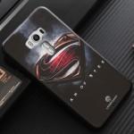 Силиконовый матовый непрозрачный чехол с объемно-рельефным принтом для Asus ZenFone 3