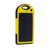 Влагопылезащищенное антискользящее портативное зарядное устройство с солнечной батареей 5000 mAh Желтый