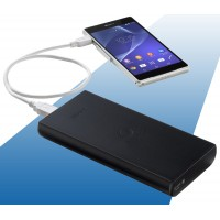Оригинальное зарядное устройство-хаб Sony с возможностью подключения до 4 гаджетов 20000 mAh для Samsung Galaxy Note 4 (duos, lte, N910H, SM-N910H, N910f, SM-N910f, SM-N910C, n910c)