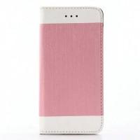 Чехол портмоне подставка на силиконовой основе для Iphone 7 Розовый