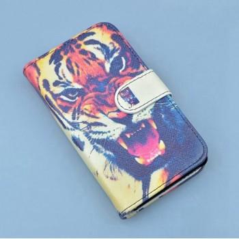 Чехол портмоне подставка на пластиковой основе с полноповерхностным принтом на магнитной защелке для Iphone 7