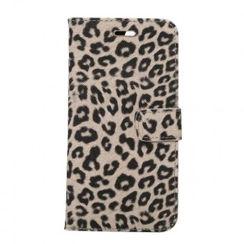 Чехол портмоне подставка текстура Леопард на пластиковой основе на магнитной защелке для Iphone 7 Plus