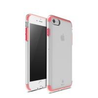 Силиконовый матовый полупрозрачный дизайнерский фигурный чехол для Iphone 7 Красный