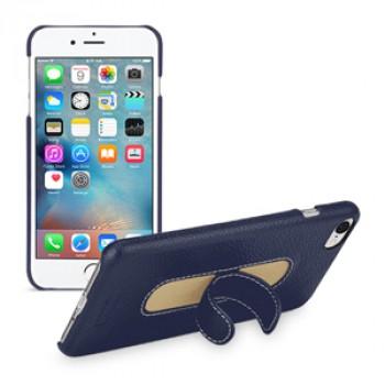 Кожаный чехол накладка (премиум нат. кожа) с функцией подставки для Iphone 7 Plus