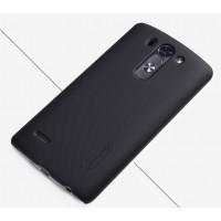 Пластиковый матовый нескользящий премиум чехол для LG G3 S Черный