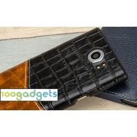 Кожаный чехол накладка (2 вида премиум нат. кожи) для Blackberry Priv