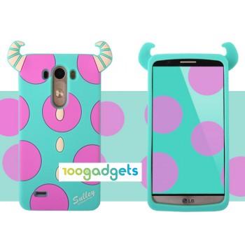 Силиконовый дизайнерский фигурный чехол для LG G3 S Рожки