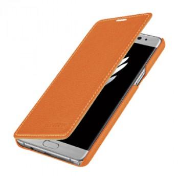 Кожаный чехол горизонтальная книжка (премиум нат. кожа) для Samsung Galaxy Note 7