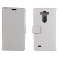 Чехол портмоне подставка с защелкой для LG G3 S Белый