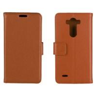 Чехол портмоне подставка с защелкой для LG G3 S Коричневый
