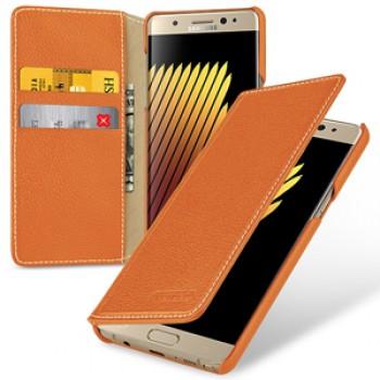 Кожаный чехол портмоне (премиум нат. кожа) для Samsung Galaxy Note 7