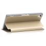 Чехол флип подставка на пластиковой основе с окном вызова и свайпом для Sony Xperia Z3