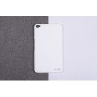 Пластиковый матовый непрозрачный чехол для Huawei MediaPad X2 Белый