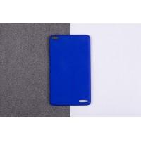Пластиковый матовый непрозрачный чехол для Huawei MediaPad X2 Синий