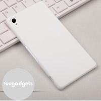 Пластиковый матовый грязестойкий чехол для Sony Xperia Z3 Белый
