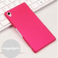 Пластиковый матовый грязестойкий чехол для Sony Xperia Z3 Пурпурный