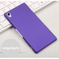 Пластиковый матовый грязестойкий чехол для Sony Xperia Z3 Фиолетовый