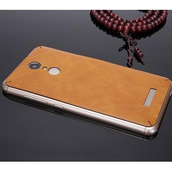Экстратонкая клеевая кожаная накладка для Xiaomi RedMi Note 4