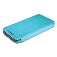Тонкий чехол-флип для HTC Desire 210 Голубой