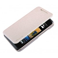Тонкий чехол-флип для HTC Desire 210 Бежевый