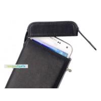 Кожаный чехол (нат.кожа) футляр-зажигалка для Samsung Galaxy Alpha