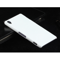 Пластиковый чехол серия Metallic для Sony Xperia Z3 Белый