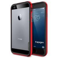Премиум двухосновный силикон-пластик бампер для Iphone 6 Красный
