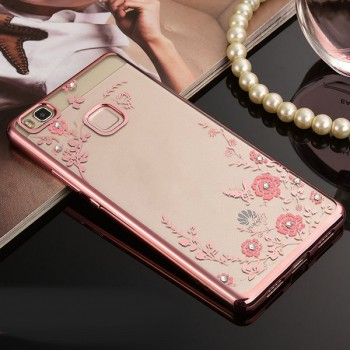 Силиконовый матовый полупрозрачный чехол с текстурным покрытием Металлик для Huawei P9 Lite