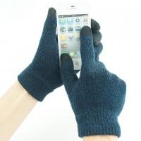 Сенсорные трехпальцевые перчатки шерсть/акрил в вязаном дизайне