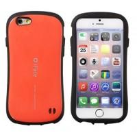 Эргономичный силиконовый чехол повышенной защиты для Iphone 6 Оранжевый