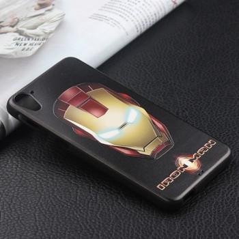 Силиконовый матовый непрозрачный чехол с объемным принтом для HTC Desire 820