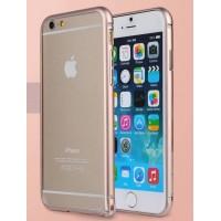Ультратонкий металлический бампер для Iphone 6 Розовый