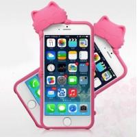 Силиконовый фигурный чехол Кошка для Iphone 6