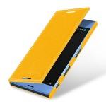 Кожаный чехол горизонтальная книжка (премиум нат. кожа) для Sony Xperia XZ
