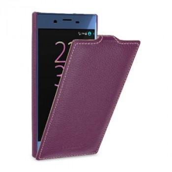 Кожаный чехол вертикальная книжка (премиум нат. кожа) для Sony Xperia XZ