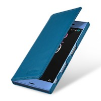 Кожаный чехол портмоне (премиум нат. винтажная кожа) для Sony Xperia XZ/XZs