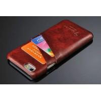Дизайнерский кожаный чехол накладка с отделениями для карт Iphone 6