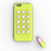 Силиконовый чехол серия Fifteen Pills для Iphone 6 Желтый