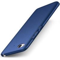 Пластиковый непрозрачный матовый чехол Металлик с улучшенной защитой элементов корпуса и повышенной шероховатостью для Xiaomi Mi5S Синий