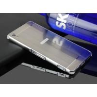 Двухкомпонентный чехол c металлическим бампером с поликарбонатной накладкой и отверстием для логотипа для Sony Xperia XA Белый