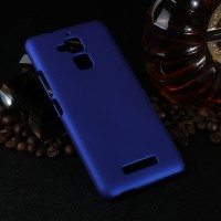 Пластиковый непрозрачный матовый чехол для Asus ZenFone 3 Max Синий