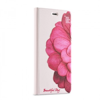 Чехол горизонтальная книжка подставка на пластиковой основе с полноповерхностным принтом для Xiaomi Mi5S